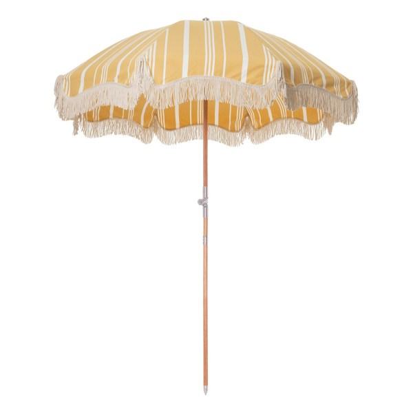 Business & Pleasure Co. - Parasol frangé jaune - Blog famille Sunday Grenadine