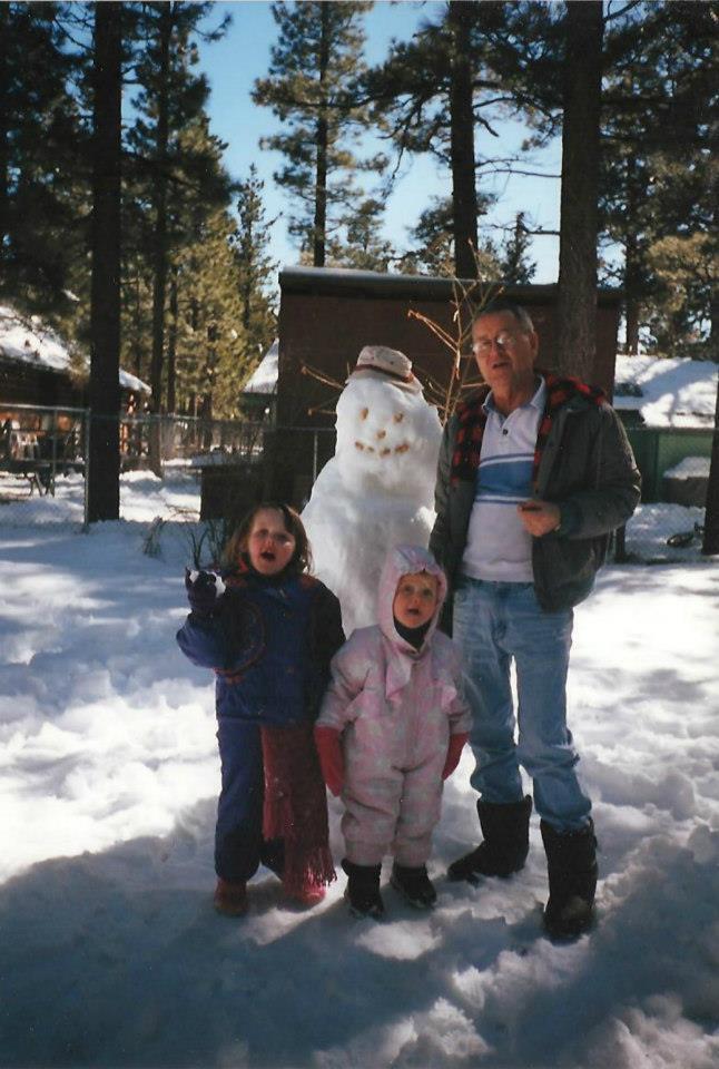 granddad and snow