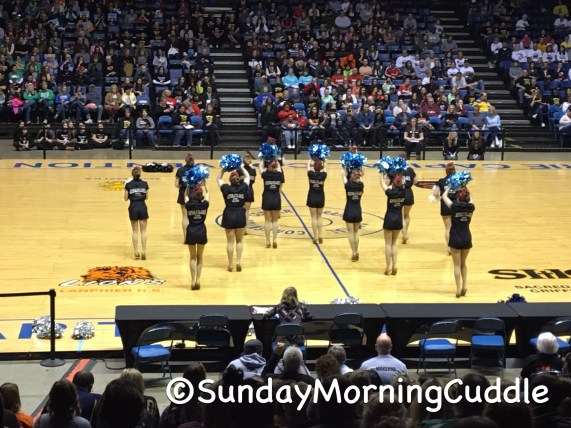 One of the pom routines at the IDTA State Championships.