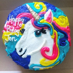 Unicorn magic cake