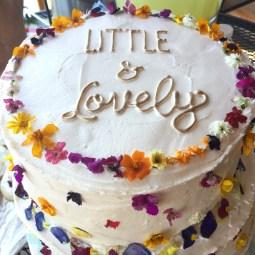 wild flower baby shower cake