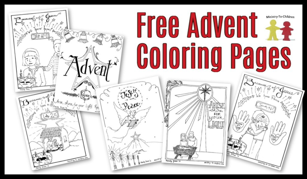 Advent Coloring Pages for Kids