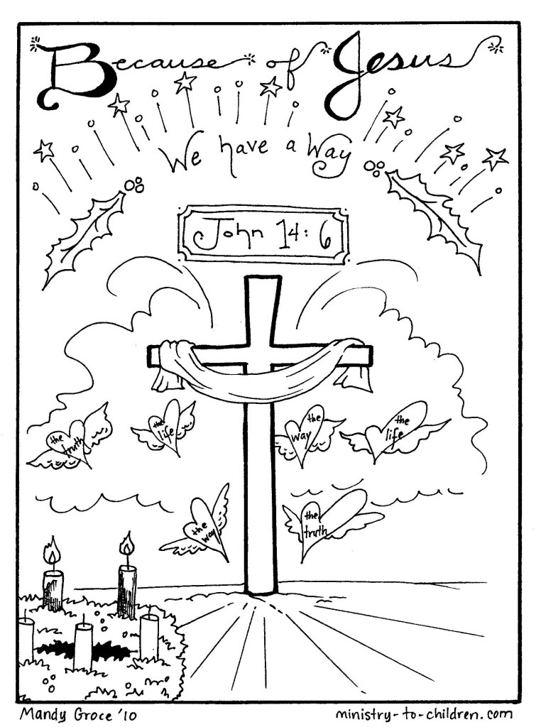 We have a way - Advent coloring page
