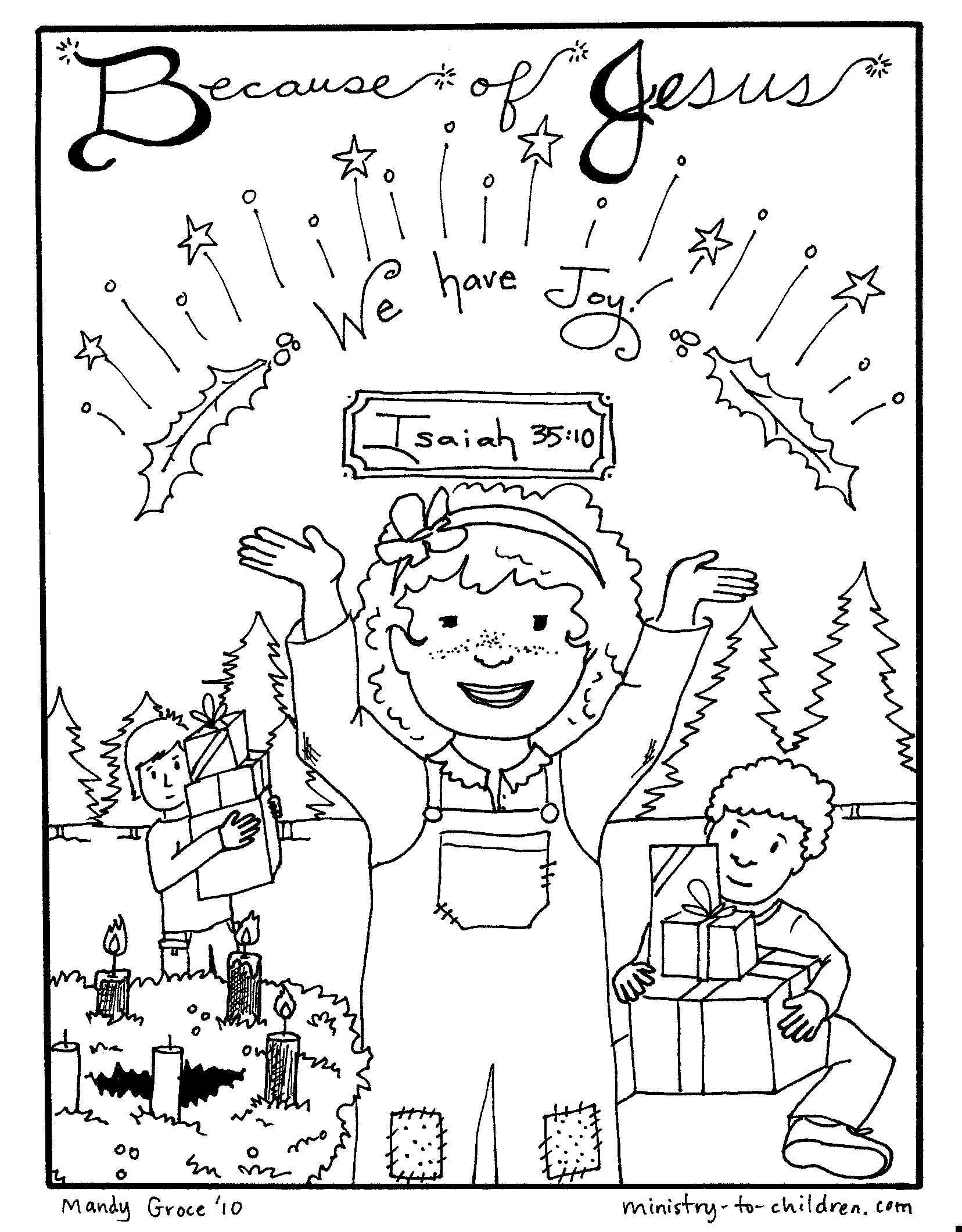We have Joy - Advent Coloring Page