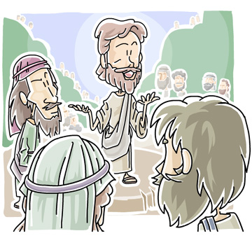 Jesus teaching the Beatitudes