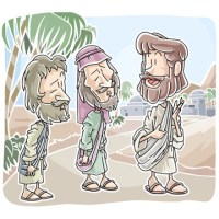 jesus appears on the road to emmaus