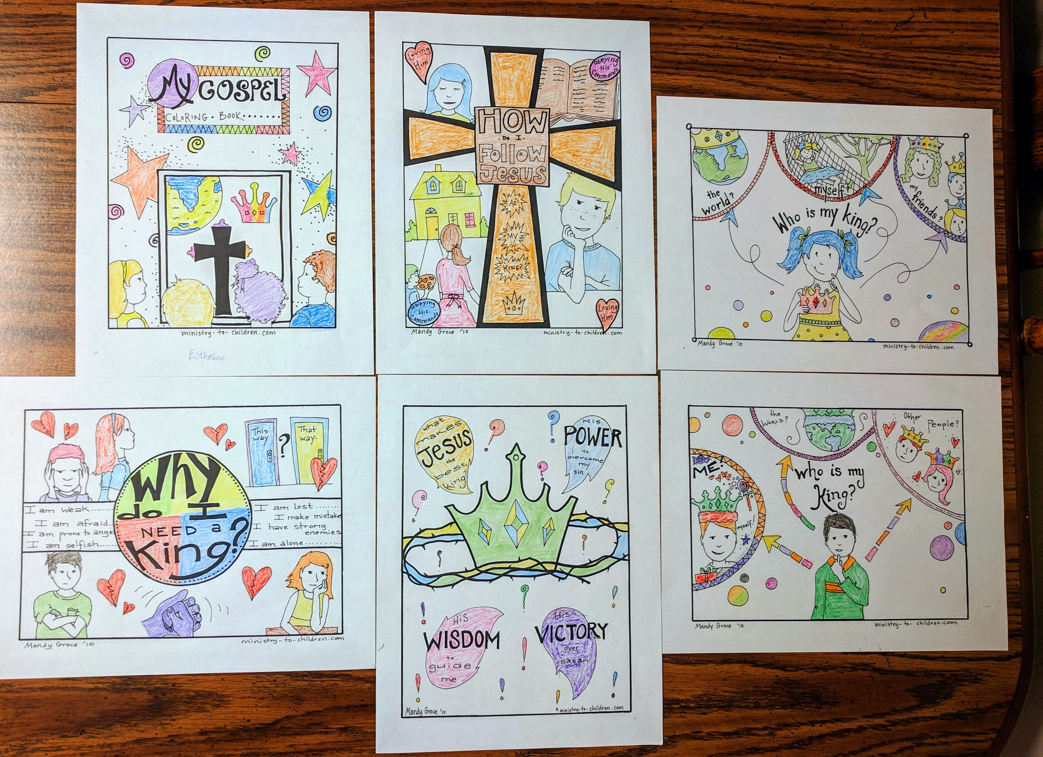 Following Jesus Coloring Pages - Sunday School Works
