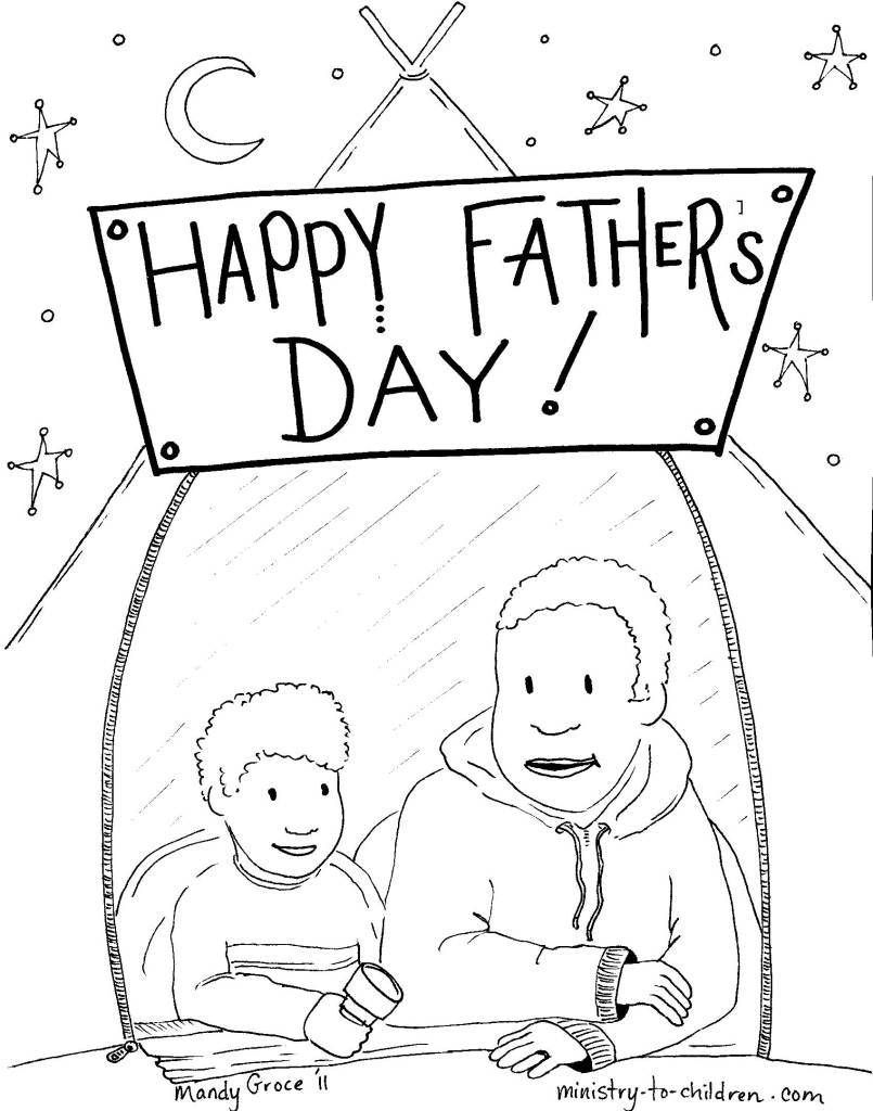 Happy Father's Day coloring page