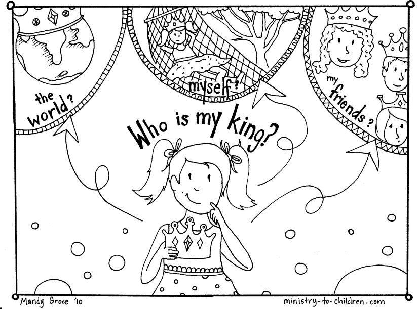 Coloring Sheet - Is Jesus my King?