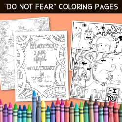 Free Do Not Fear Bible Coloring Pages Sunday School Works