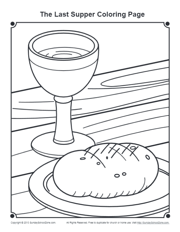 the last supper coloring page # 11