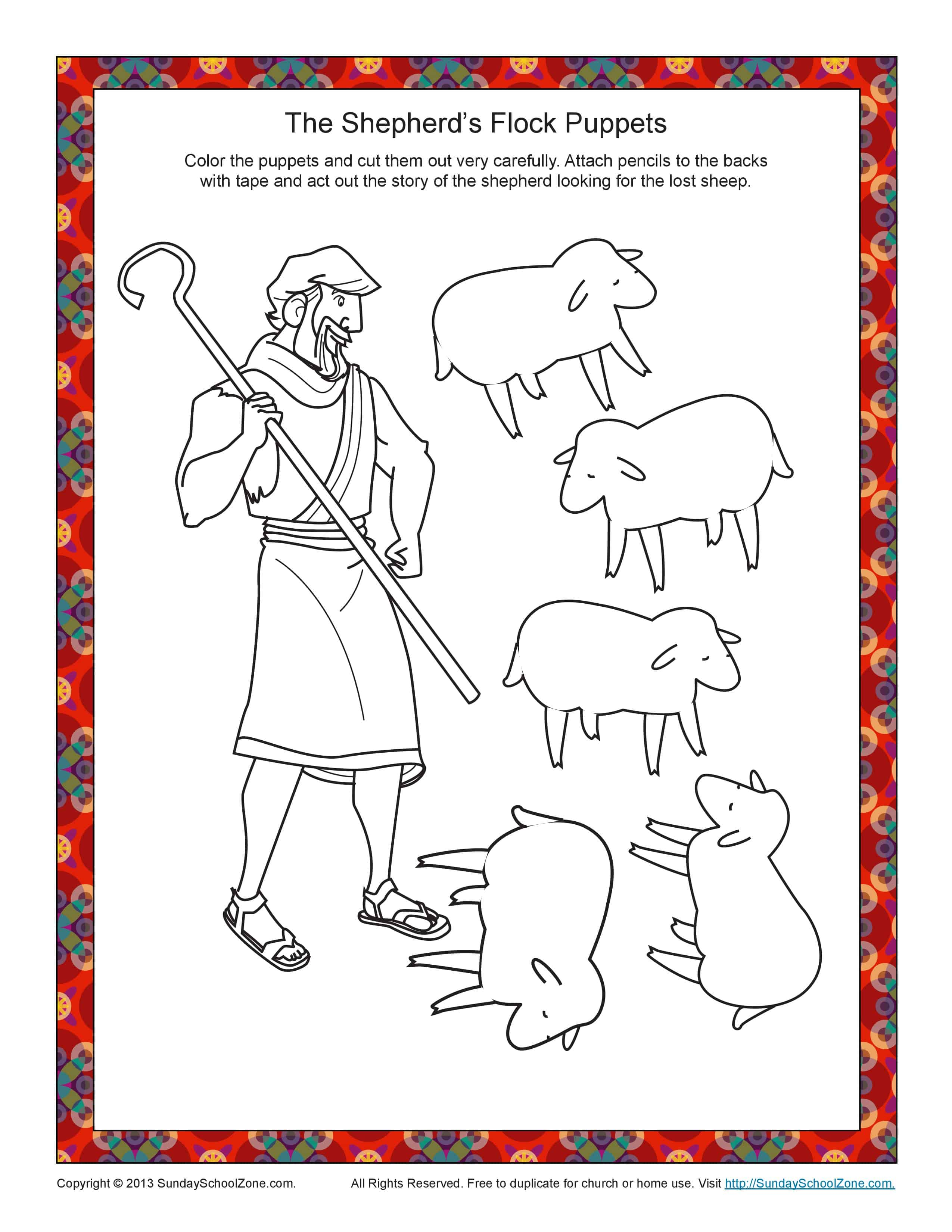 The Shepherd S Flock Bible Craft For Kids