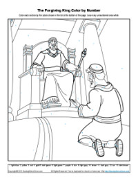Bible Coloring Pages For Kids The Story Of The Forgiving