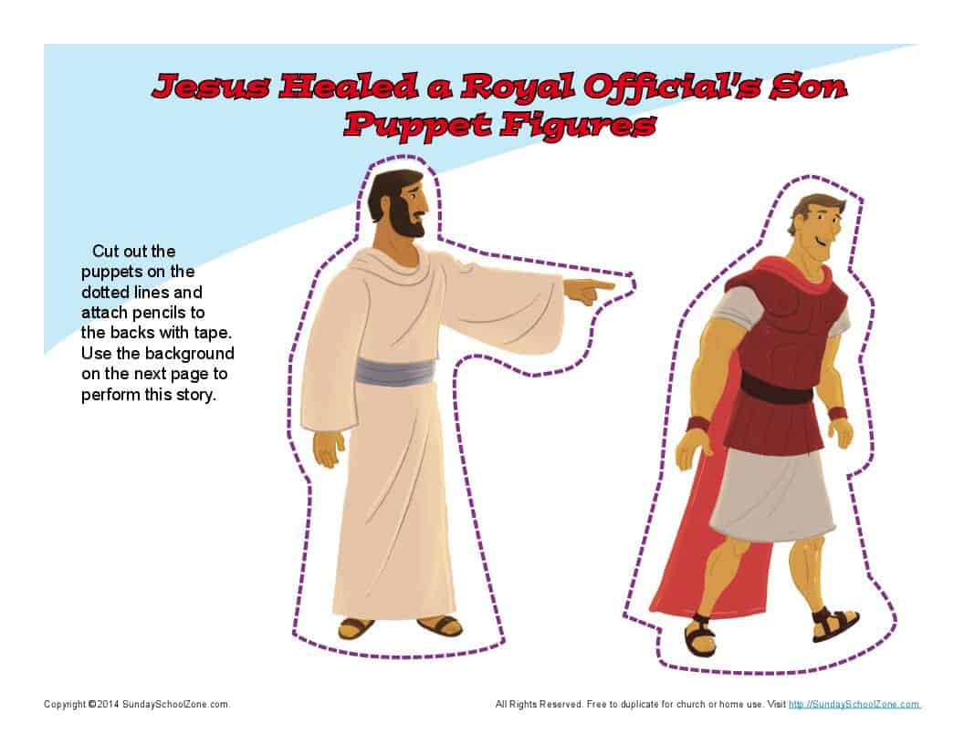 Jesus Healed An Official S Son Puppets