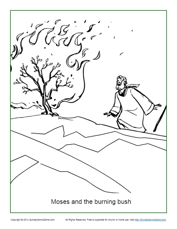 burning bush coloring page # 0
