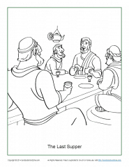 the last supper coloring page # 54