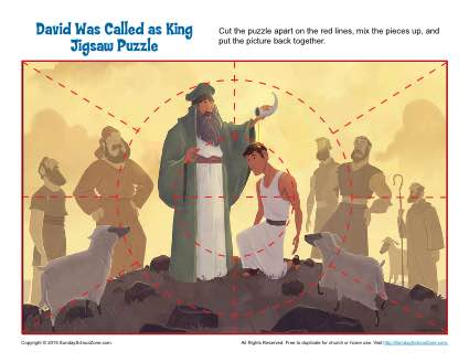 David Was Called As King Jigsaw Puzzle Childrens Bible