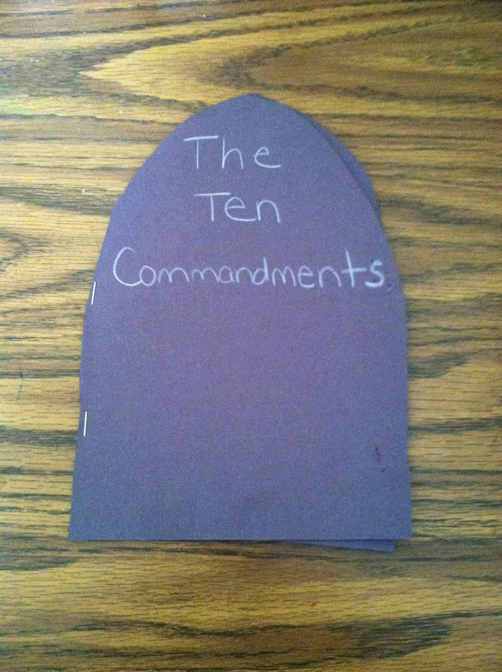 God Gave Moses The Ten Commandments Bible Craft