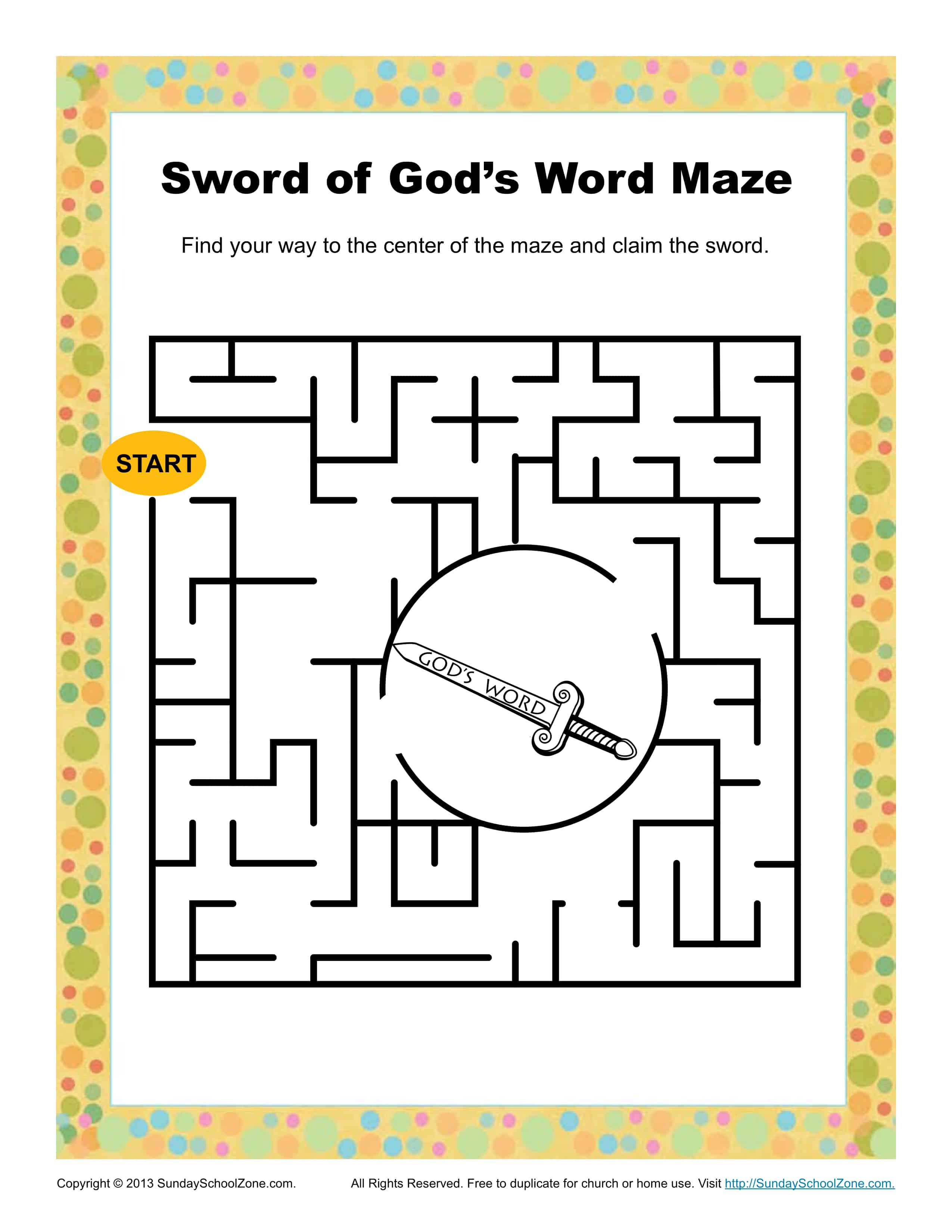 Sword Of God S Word Maze