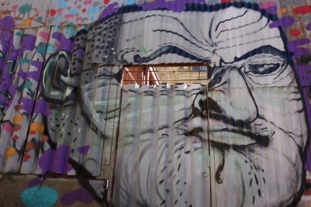 """Graffiti - """"Le borgne"""" - Cerro Alegre"""