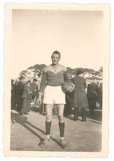 Joseph le rugbyman à Salon de Provence, le 4 janvier 1941.