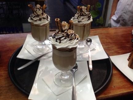 Les cappuccinos crées par Carlos et sa femme.