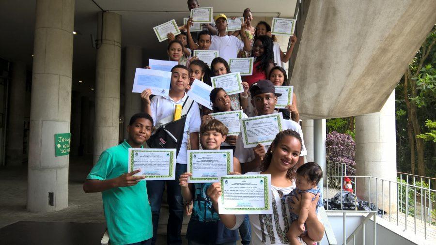 1ere promotion Bandeirantes Ja, au sein de la formation leader communautaire