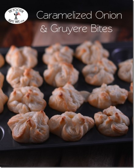 Caramelized Onion and Gruyere Bites by The Foodie Army Wife
