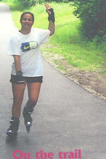 Alida on skates