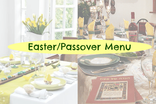 easter passover menu