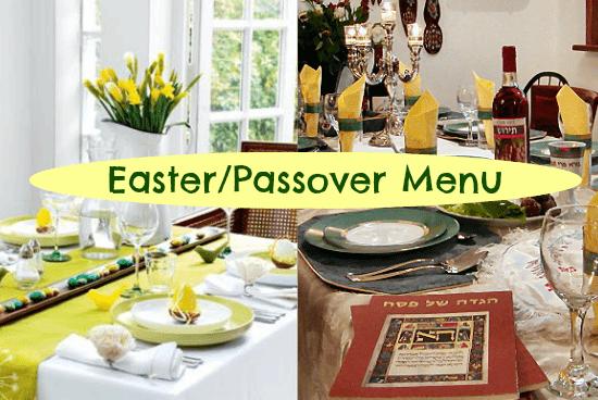 easter passover menu
