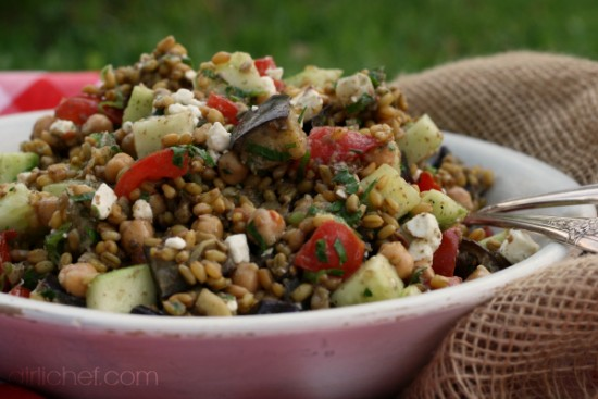 Za'atar-Spiced Chickpea and Freekeh Salad by Heather Schmitt-Gonzalez