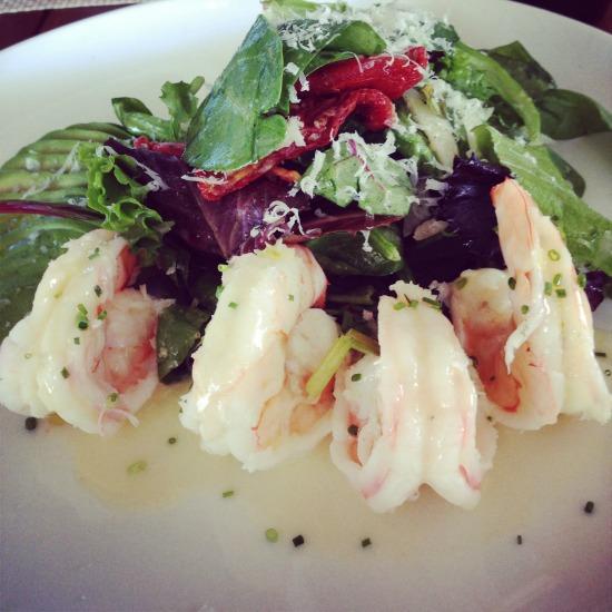 Warm Shrimp and Avocado Salad #WeekdaySupper #ChooseDreams
