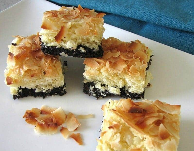 Brownie-Bottom Coconut Bars