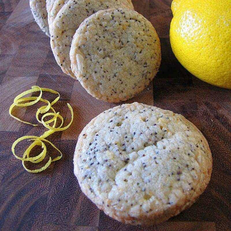 Lemon Poppy Seed Shortbread