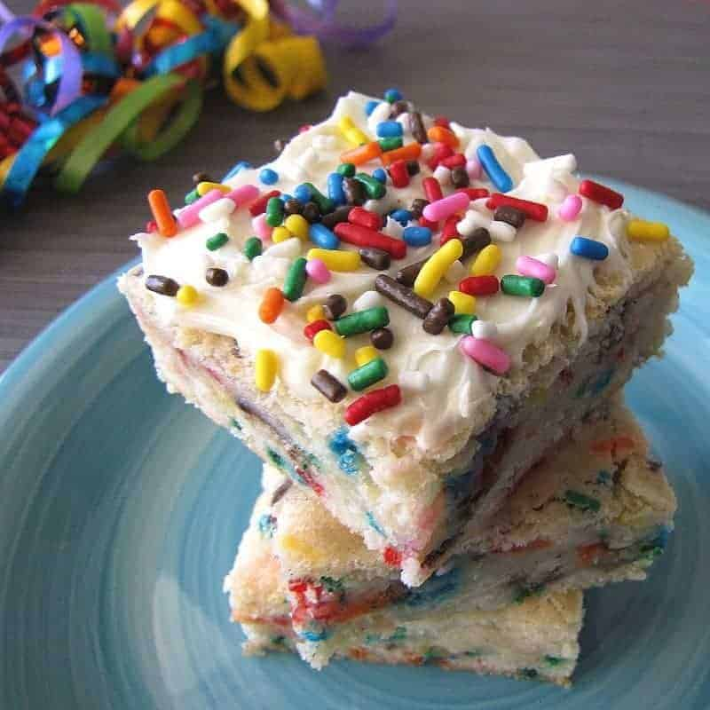 Rainbow Birthday Cookie Bars