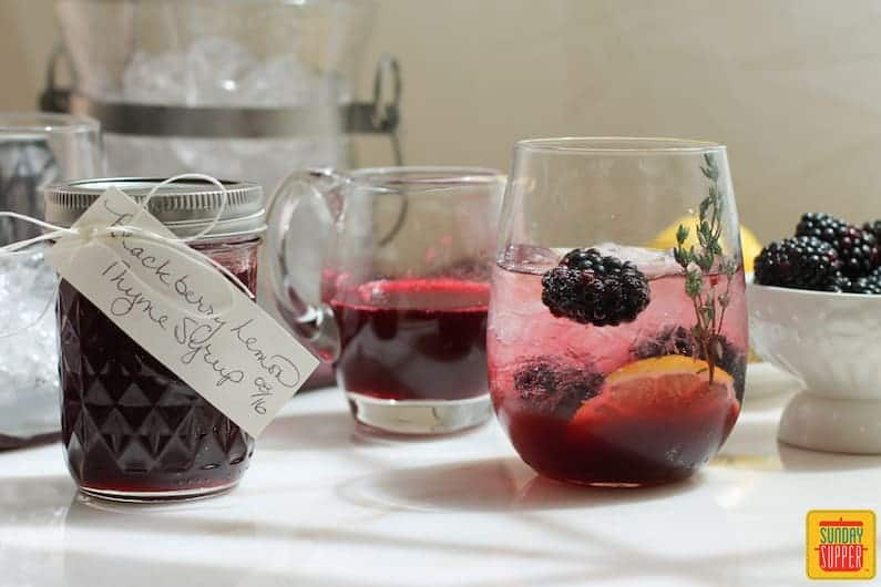 Blackberry Lemon Thyme Syrup #SundaySupper #Giveaway