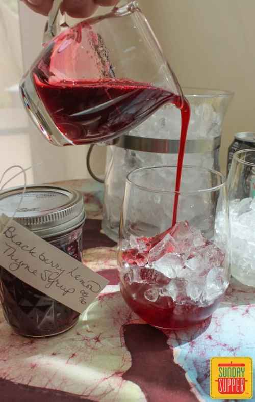 Blackberry Lemon Thyme Syrup #SundaySupper #Giveaway