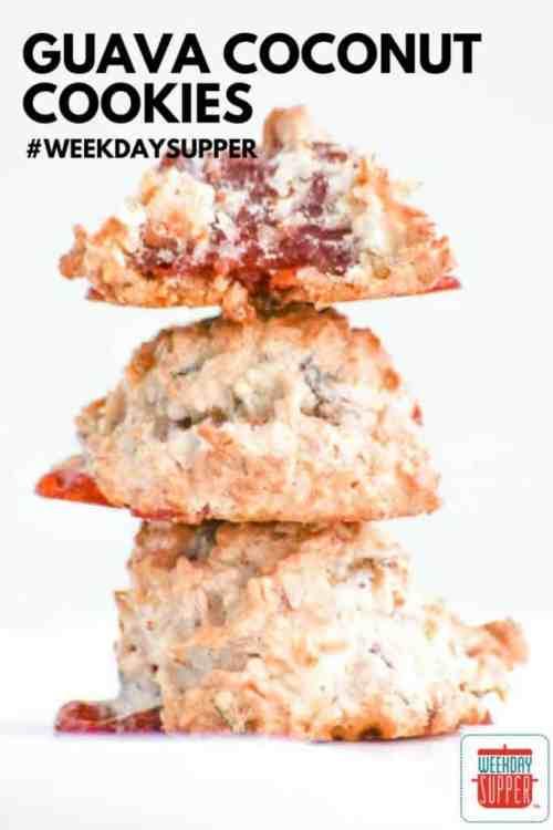 Guava Coconut Cookies #WeekdaySupper #CookieJar