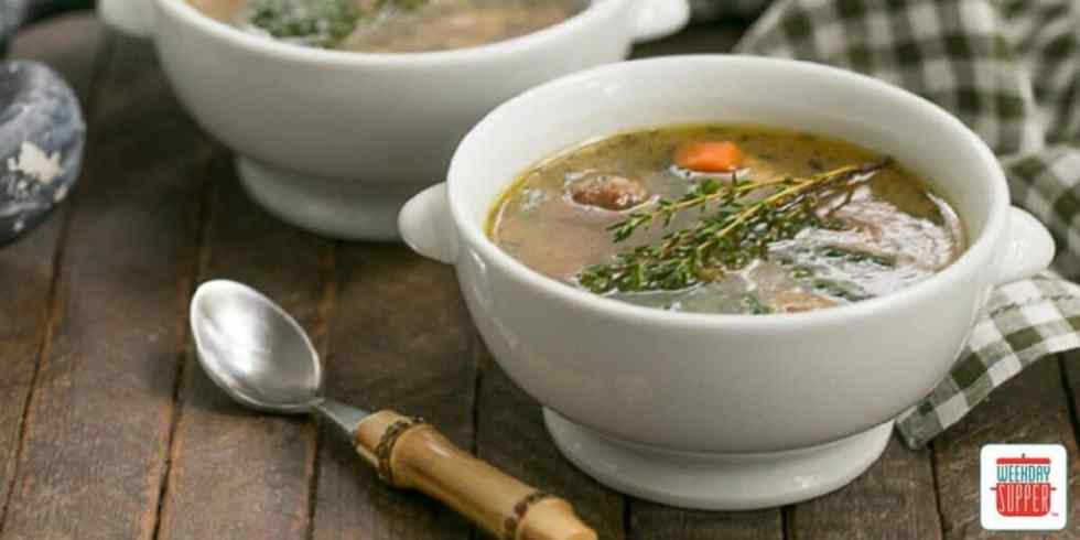 Italian Wedding Soup #WeekdaySupper