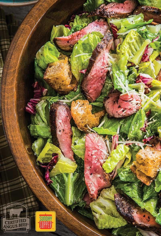 Grilled Steak Caesar Salad #SundaySupper #BestBeef