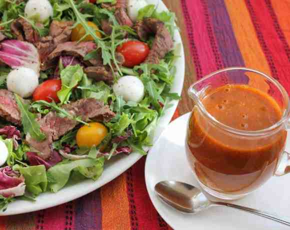 Sunday Supper recipes: Roasted Tomato Vinaigrette Beef Salad #SundaySupper #BestBeef