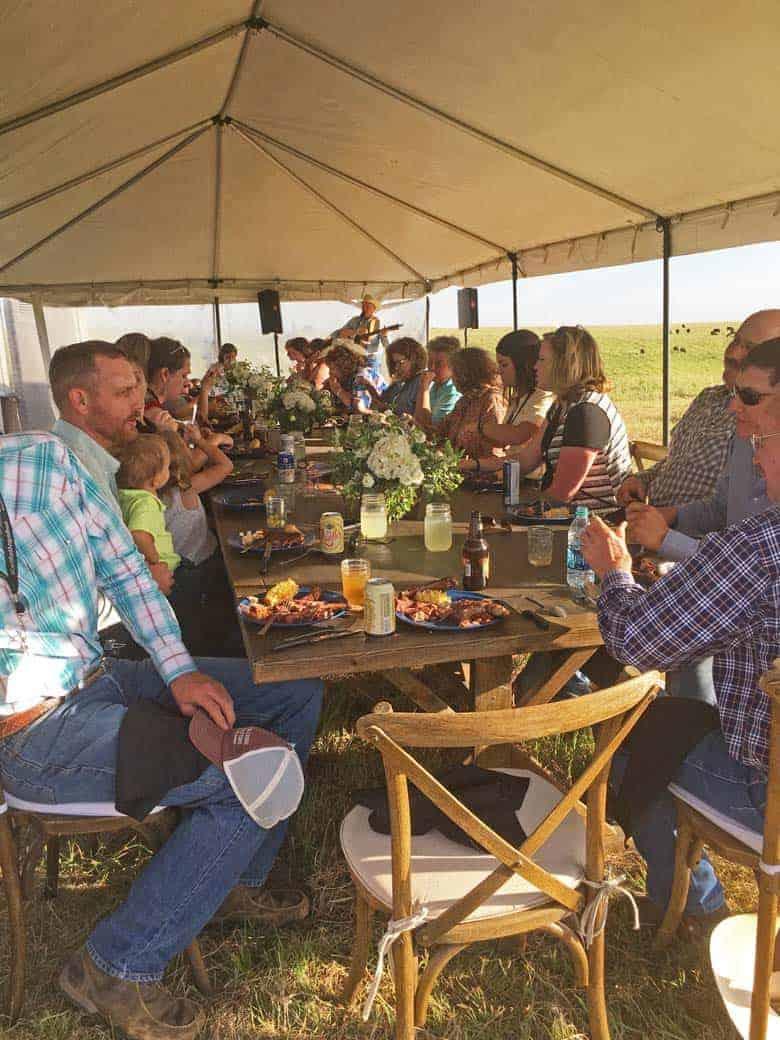 Chuck Wagon Dinner Ranch Group Shot