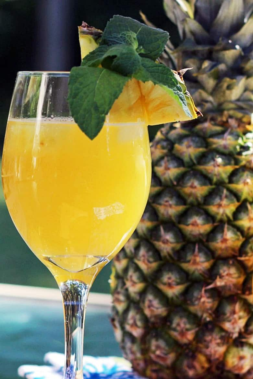 Simple Mixed Drinks - Pineapple Jalapeno Wine Spritzer