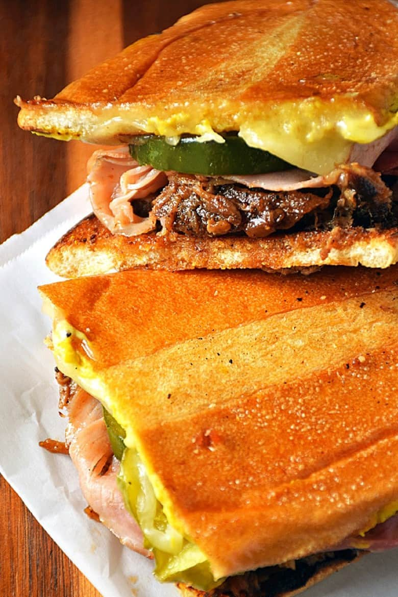pulled pork Cuban sandwich