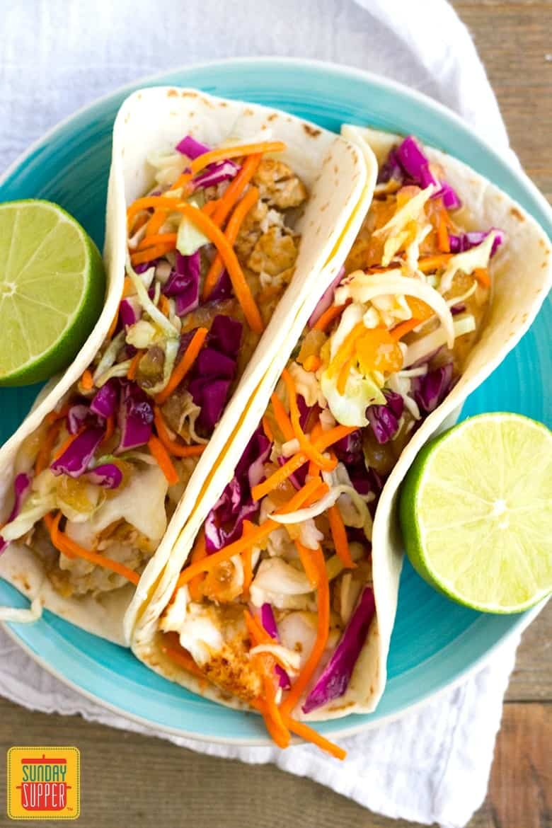 Easy Fish Taco Recipe #SundaySupper