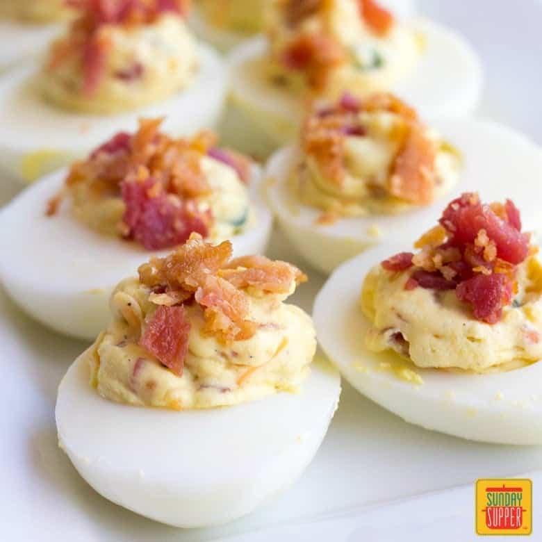 Jalapeno Popper Deviled Eggs #SundaySupper