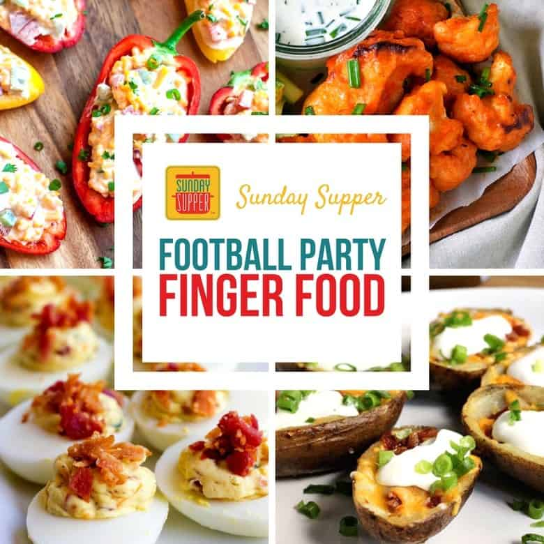 Football Party Finger Food #SundaySupper
