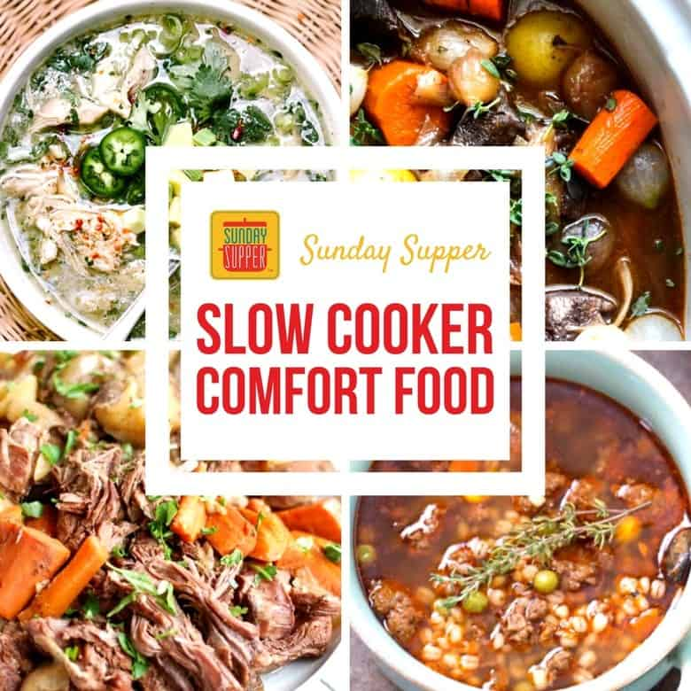 Slow Cooker Comfort Food Recipes #SundaySupper