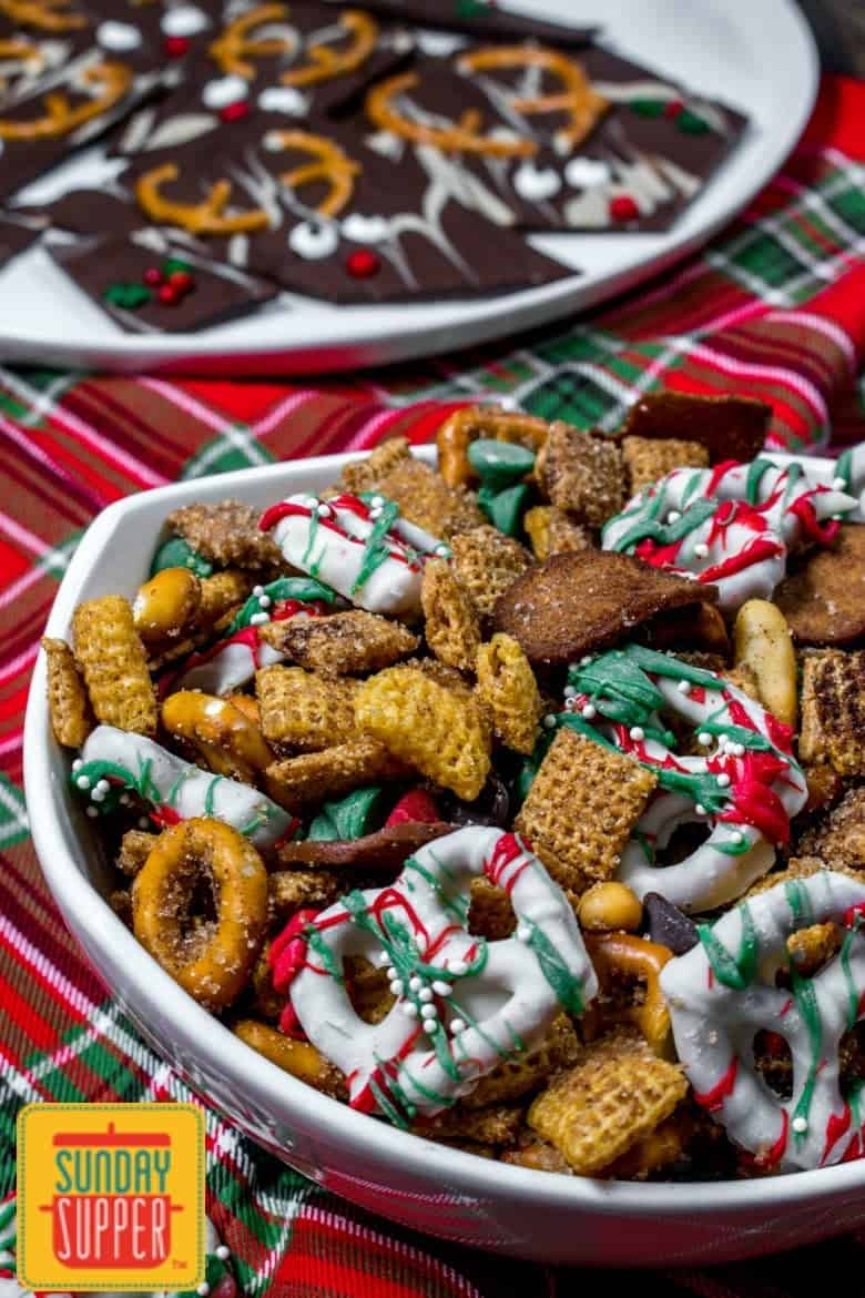 Christmas Chex Mix Recipe #SundaySupper